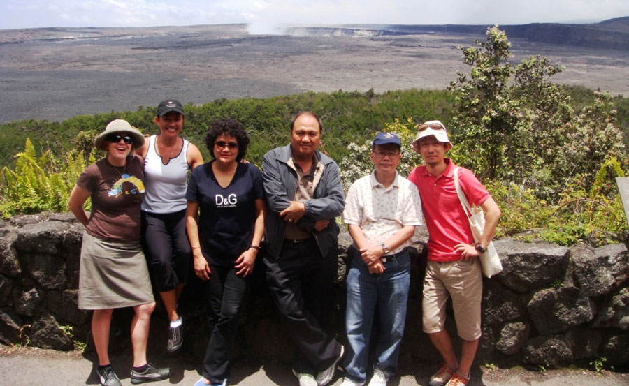 image of EDIT students at Volcanoes National Park