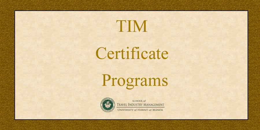 image that reads: TIM Certificate Programs