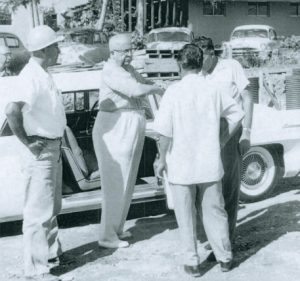 Image of Henry J. Kaiser at a construction site