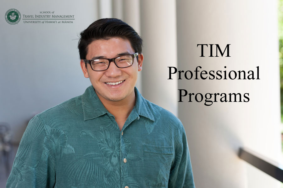 Image of a man in glasses. Text says TIM Professional Programs