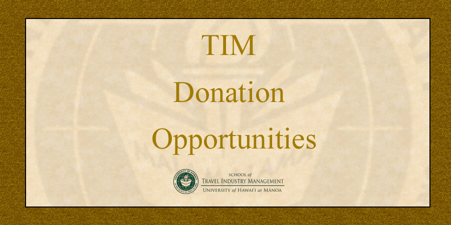 Image which reads TIM donation opportunities.