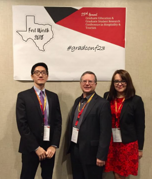 Image of Kwanglim Seo, Thomas Bingham & Lenna Shulga at Gradconf23.