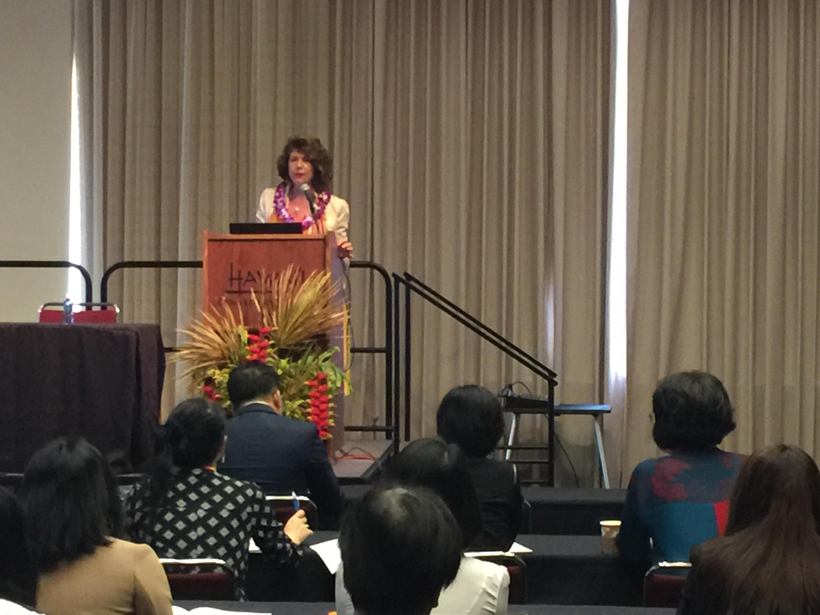 TIM Professor Emerita, Dr. Pauline Sheldon delivers the Keynote Address